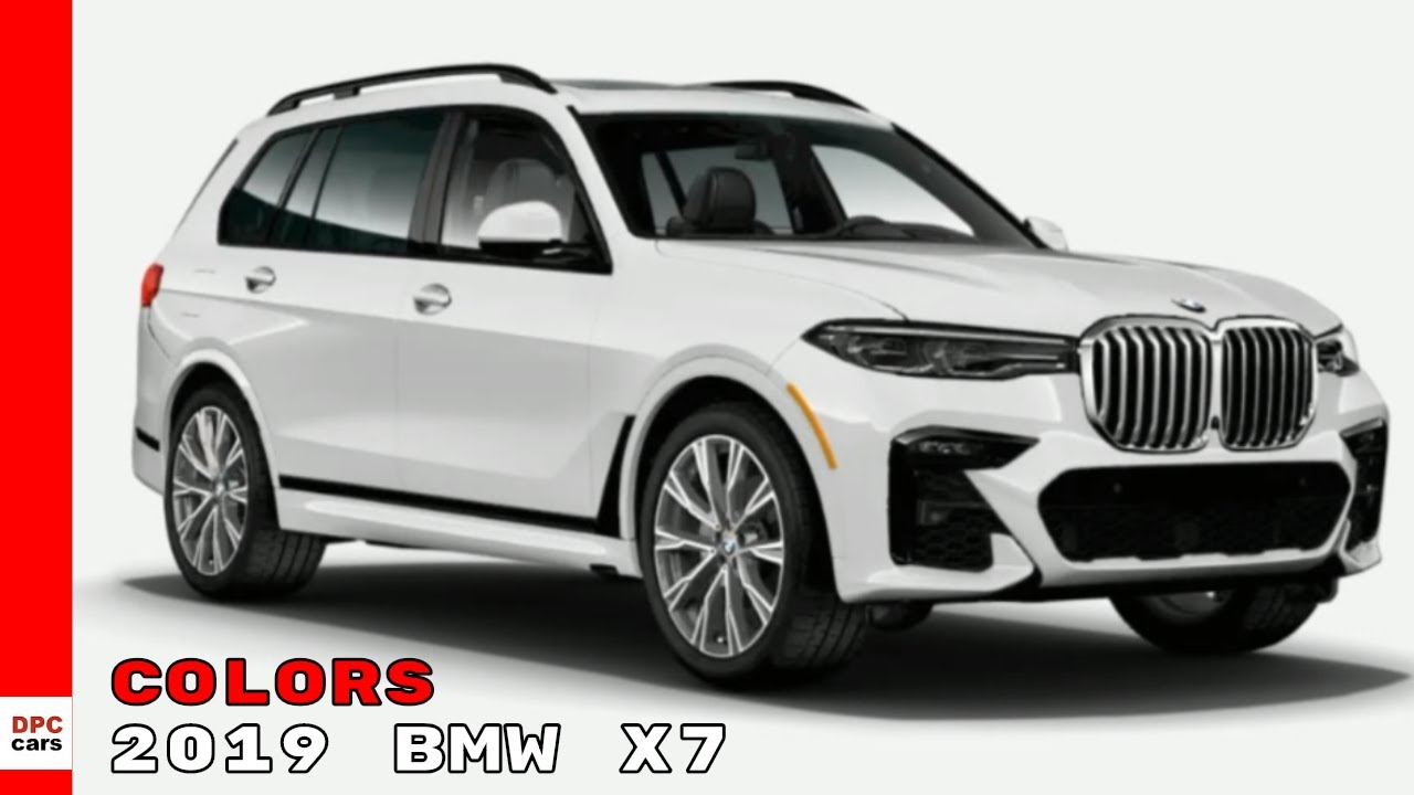 2019 BMW X7 SUV Colors