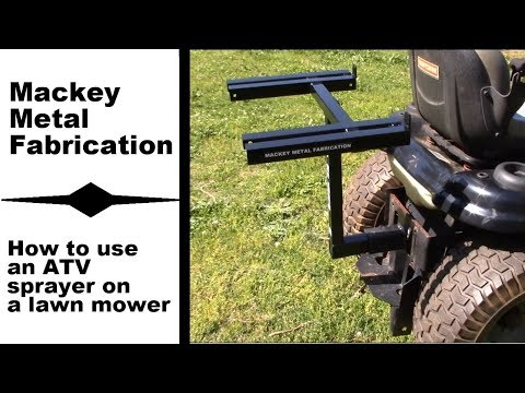 Building a sprayer mount for a lawn mower