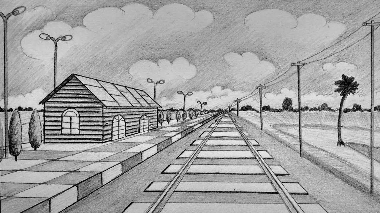 How to draw railway station