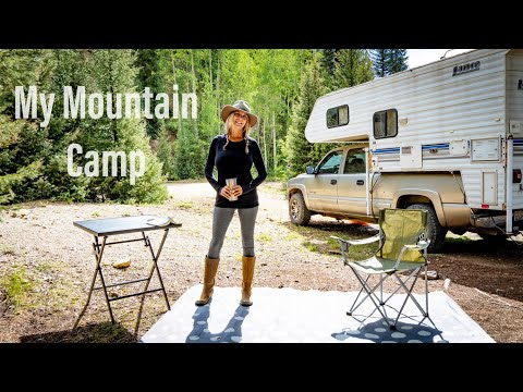 A Day at Camp in the Mountains | Full Time RV Living | Full Time Truck Camper Living