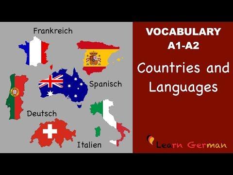 Learn German Vocabulary - Countries & Languages in German Länder und Sprachen