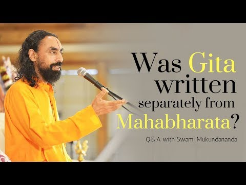 Did Ved Vyas Write the Gita Before the Mahabharata? JKYog Retreat Q&A with Swami Mukundananda