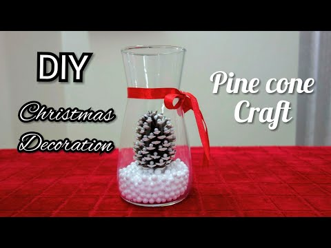 Valentine's gift ideas  | DIY Pine cone Tree decoration - Miniature Christmas Tree Caft DIY Projects