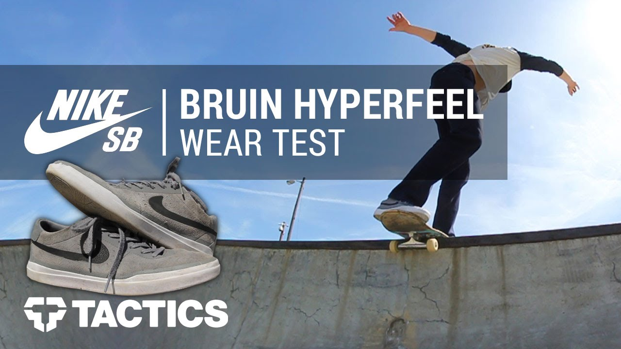 newest cb466 32718 Nike SB Bruin SB Hyperfeel Skate Shoes Wear Test Review - Tactics.com