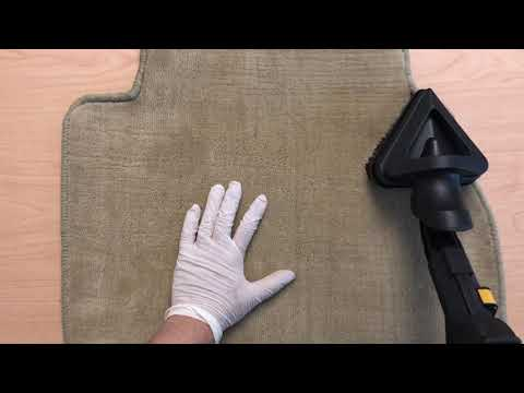 Steam cleaning car carpet floor mats clip 2