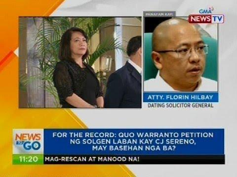 Panayam kay Atty. Florin Hilbay, dating solicitor general
