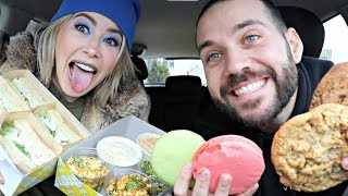 Download SEASONAL MUKBANG TASTE TEST with BUZZFEED'S KELSEY DARRAGH Mp3 and Videos