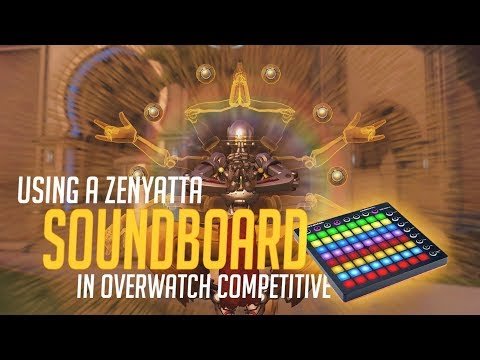 Using a Zenyatta Soundboard in Overwatch Competitive! (Overwatch Trolling)