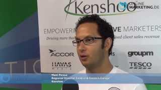 """""""Wir versuchen die besten Produkte anzubieten für Search und Social"""" - Mani Pirouz, Kenshoo"""