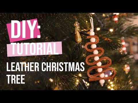 DIY Tutorial: Leather Christmas tree pendant