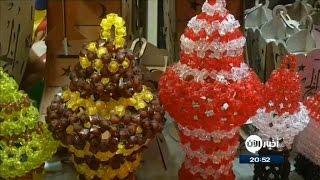 أطفال مصريون معاقون يصنعون فوانيس رمضان