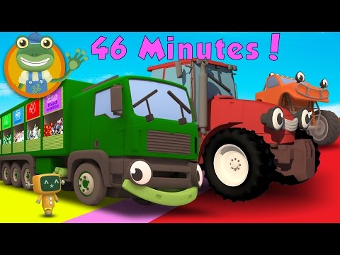 Rebecca The Recycling Truck and MORE BIG TRUCKS for Children | Gecko's Garage