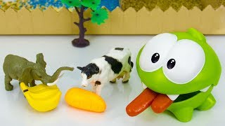 Ам Ням и Щенячий Патруль кормят животных в зоопарке. Мультики для детей.