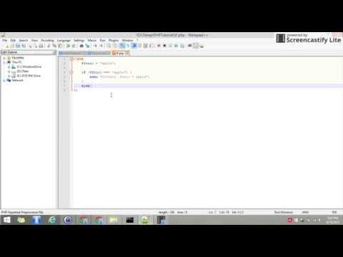 PHP Tutorial | Belajar pemrograman | IF conditional programming