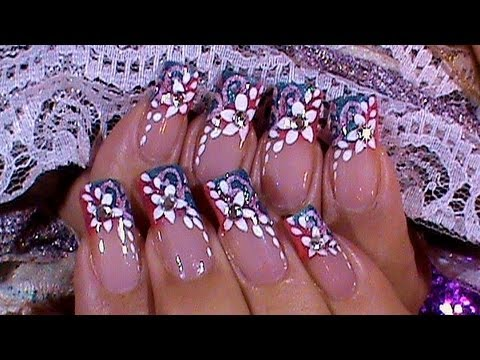 Spring bling nail art design tutorial youtube spring bling nail art design tutorial prinsesfo Images