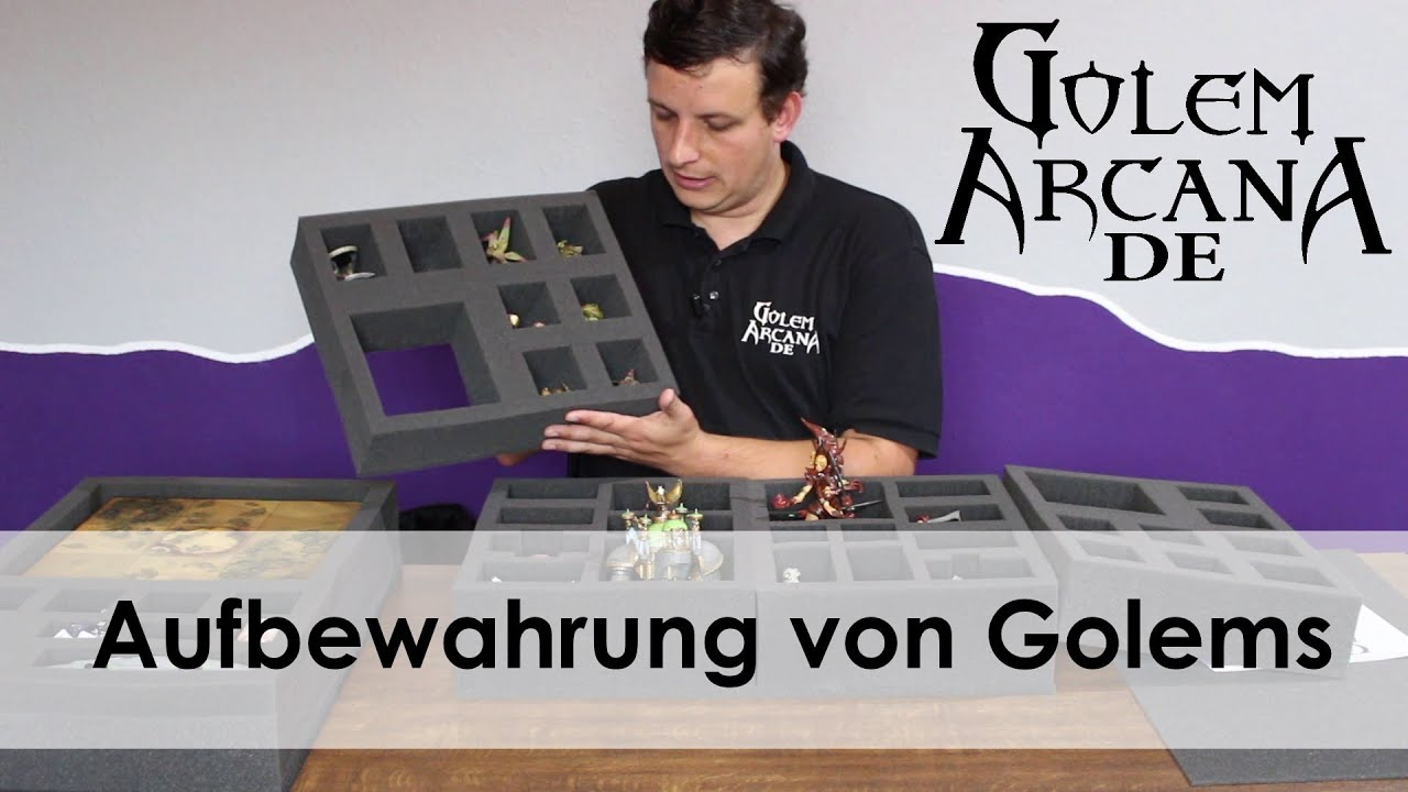 aufbewahrung f r golem arcana mit feldherr schaumstoff youtube. Black Bedroom Furniture Sets. Home Design Ideas