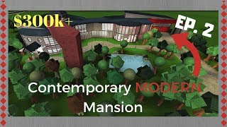 Roblox | Bloxburg: Contemporary Modern Mansion (Speed Build)