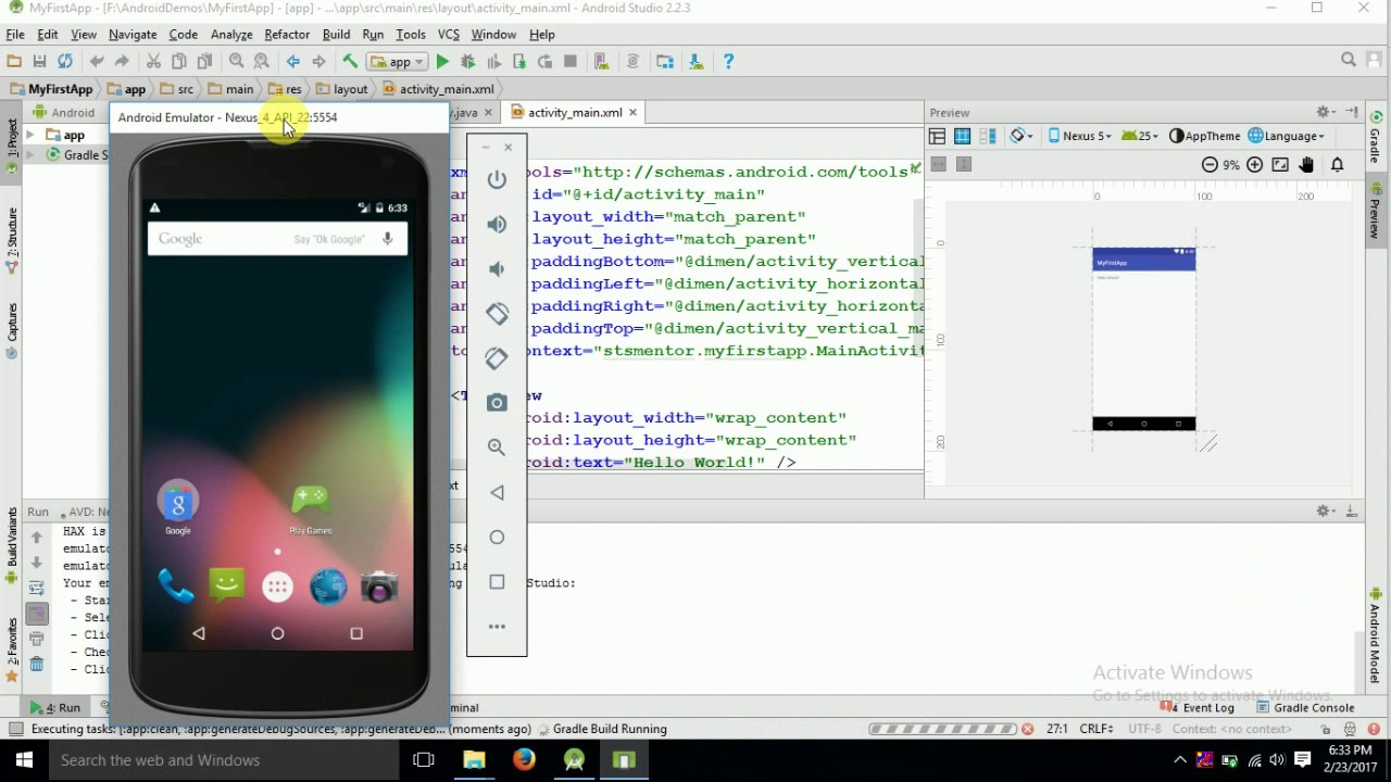 1  How to run android app in android studio