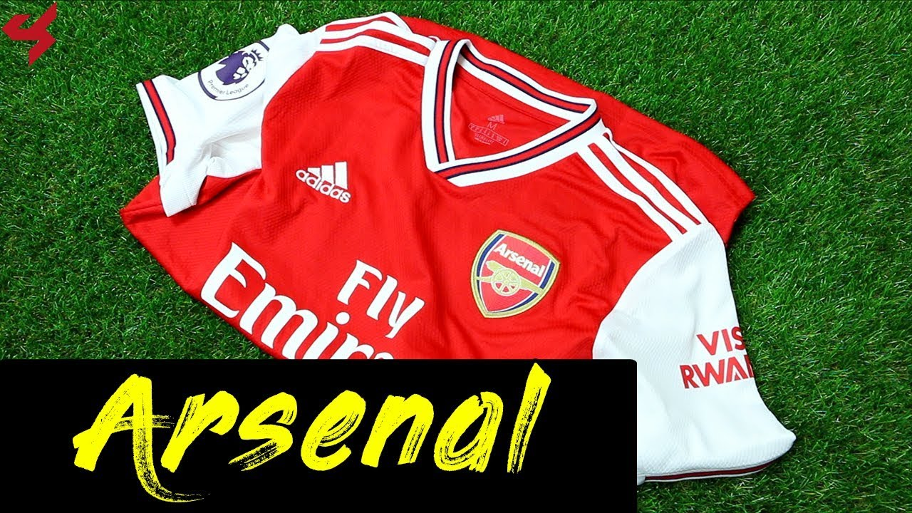 buy online 34680 2875d Adidas Arsenal Özil 2019/20 Home Soccer Jersey Unboxing + Review
