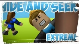 My first video on roblox playing( I did and seek extreme)