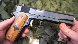 Remington 1911 45ACP Custom Trigger and Texas Mesquite Wood Grips - Texas Gun Blog