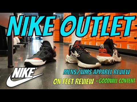 TRYIN ON A FEW SNEAKERS AT THE NIKE OUTLET + TRIP TO GOODWILL