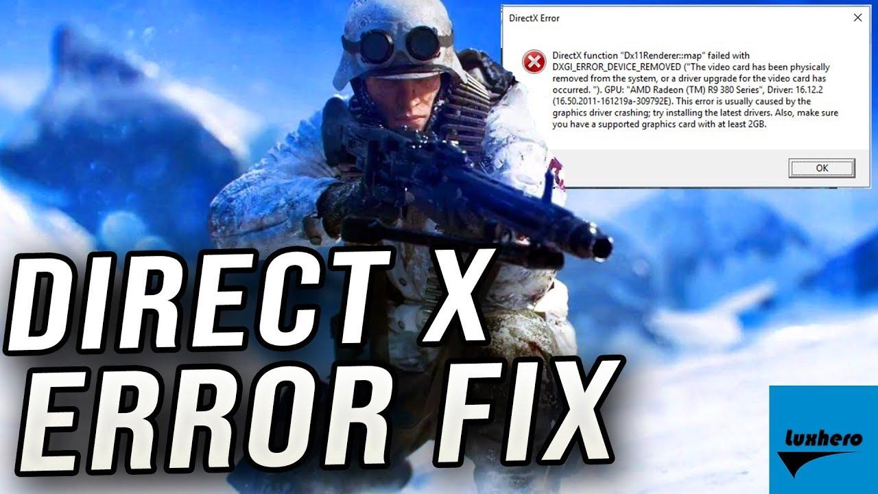 Battlefield V - How to Fix DirectX 12 Error!