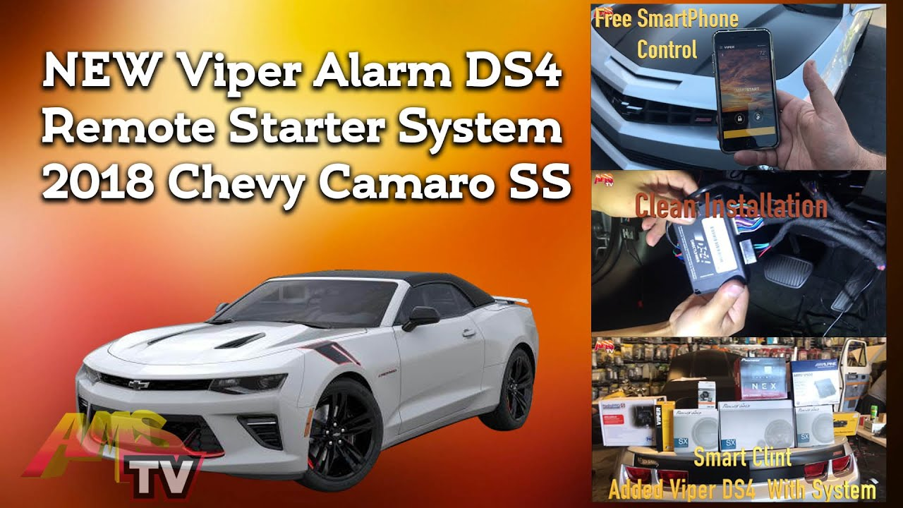 New Viper Alarm Ds4 Remote Starter System 2018 Chevy Camaro Ss Project 409