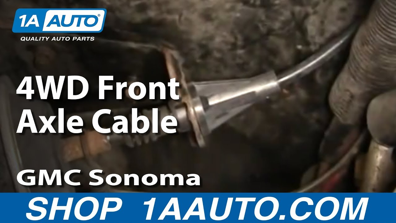 How to Replace Front Differential Shift Cable 9104 GMC Sonoma  YouTube