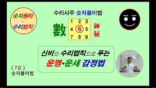 숫자론 강좌 (7강) - 수리법칙과 운명 운세 감정법 해설