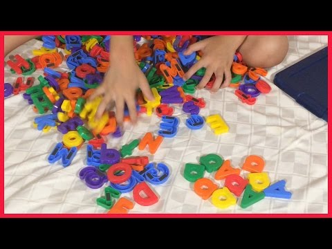 2-min challenge finding letter A alphabet magnets