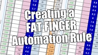 Bet Angel - Betfair trading - Creating a 'Fat Finger' automation rule