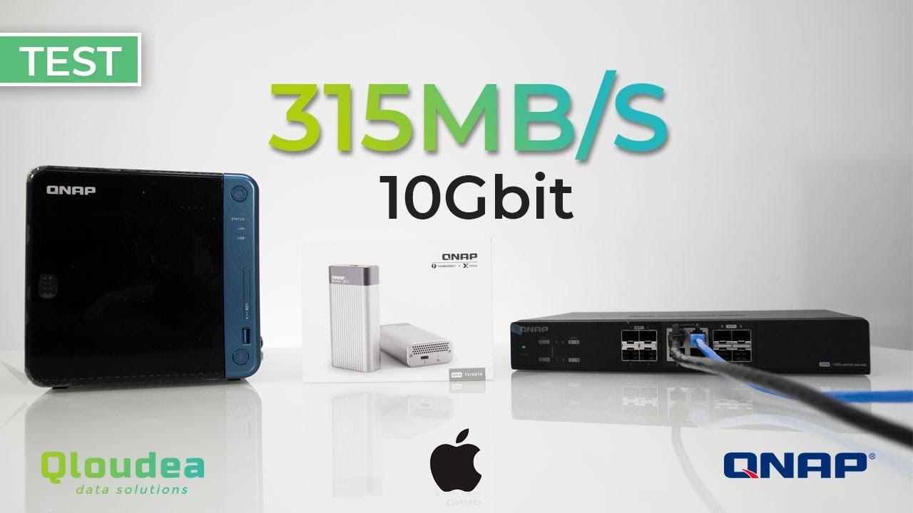 10Gbit speed test on Macbook Pro
