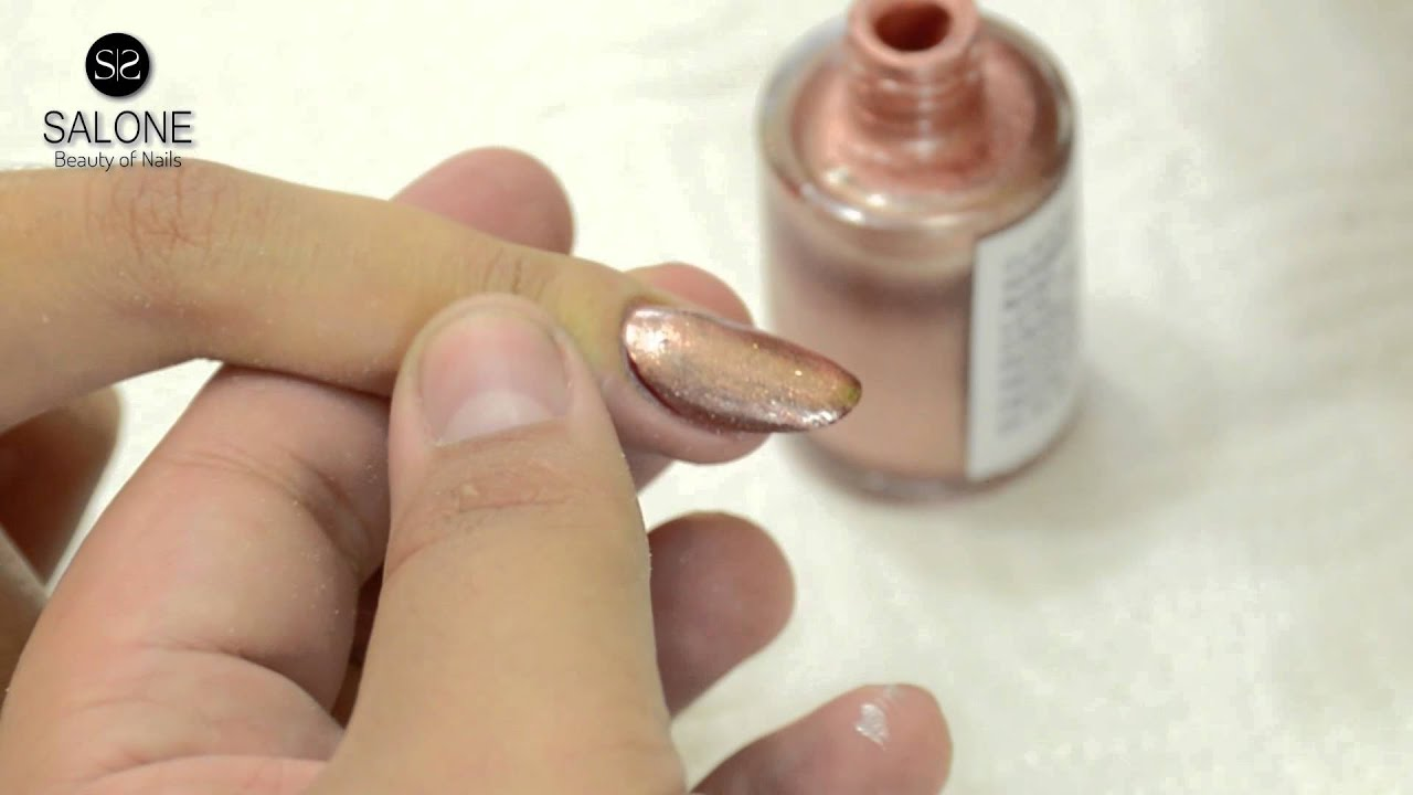 Uñas con Esmalte Metalico - YouTube