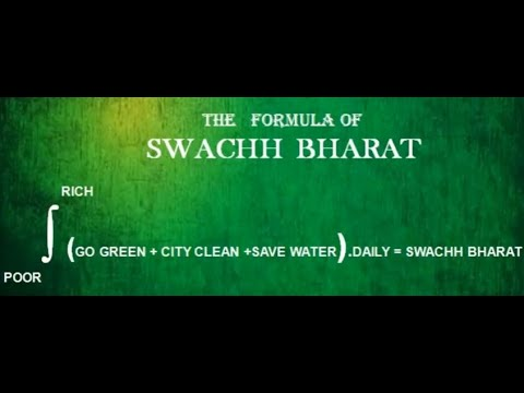 THE FORMULA OF 'SWACHH BHARAT'