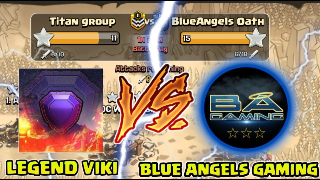 LEGEND VIKI VS BLUE ANGELS GAMING FRIENDLY WAR CHALLENGE !