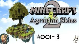 Agrarian Skies 2 #001~3 | #ups | Minecraft Let's Play Deutsch