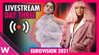 Eurovision 2021 Rehearsals livestream Day 3 (Semi-Final 2 San Marino to Greece)