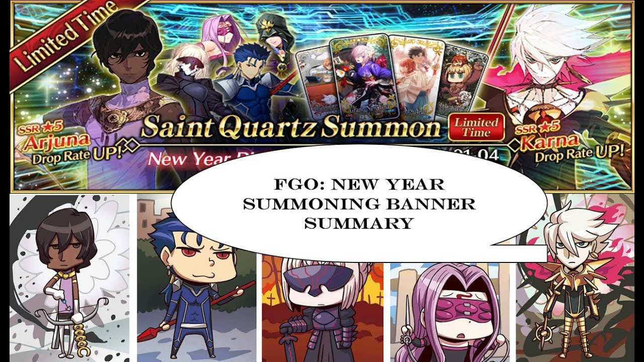 Fate go new year banner