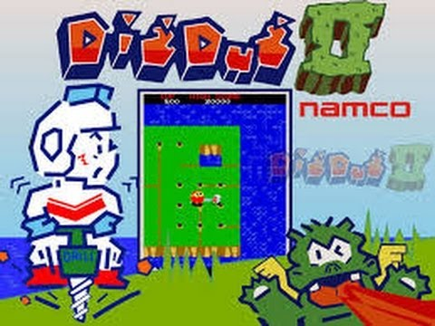 Dig Dug II: Trouble in Paradise (Arcade) - Game Play