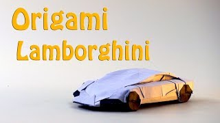 🔴Origami  LAMBORGHINI🔴 How to Make a paper LAMBORGHINI/Car(Im Young Gwang)