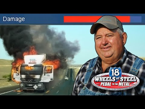 A Man who Knows Nothing About America Trucks Across It | 18 Wheels of Stee lGameplay |