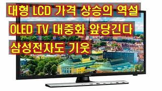 대형 LCD 가격 상승의 역설 OLED TV 대중화 앞…