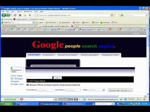 How to use Google people search engine, a great  people finder. Find a person