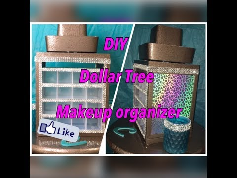 DIY ~ Dollar Tree ~  Makeup Organizer