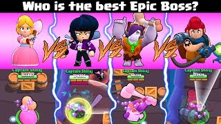 Piper VS Bibi VS Frank VS Pam :: Who's the best Epic Boss? | Brawl Stars Big Game