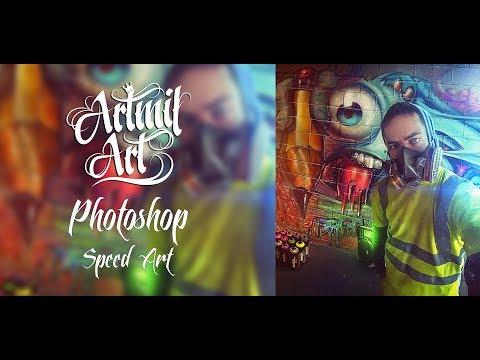 Photoshop Speed Art 🎨 Райтер 🎨
