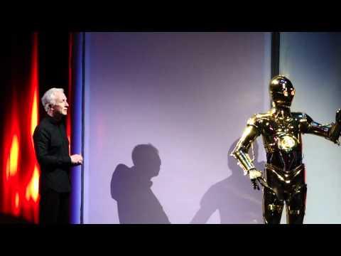 Anthony Daniels meets C-3PO at Disney's Hollywood Studios