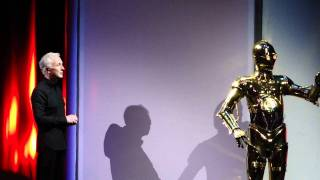 Anthony Daniels meets C-3PO at Disney's Hollywood Studios