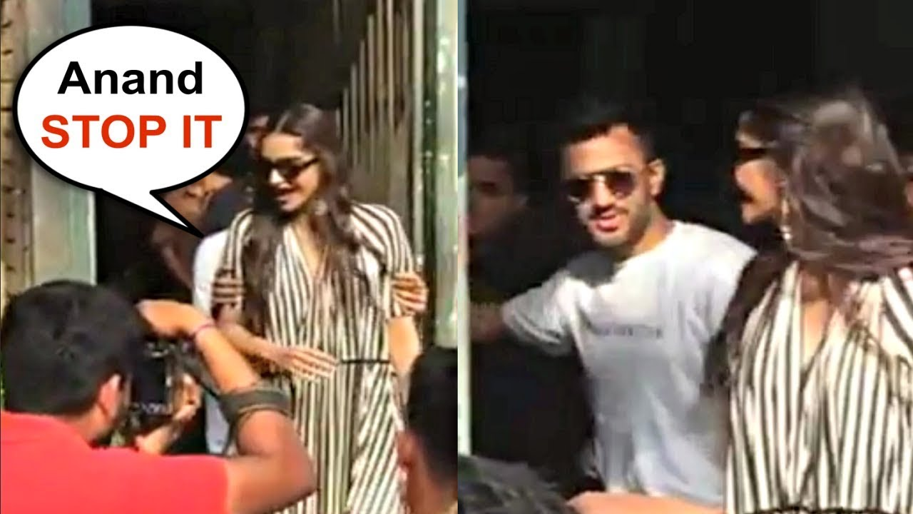 Sonam Kapoor Gets Angry On Husband Anand Ahuja Outside Cafe